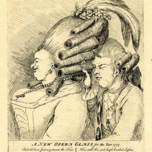 rysunek satyryczny ukazujący fryzurę