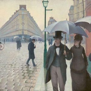 Gustave Caillebotte Ulica paryska Deszczowy dzień