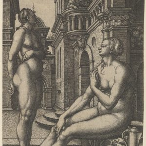 Heinrich Aldegrever, Batszeba w kąpieli, 1532, The Metropolitan Museum of Art, New York Niezła sztuka
