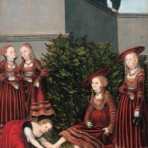 Lucas Cranach Starszy, Batszeba i Dawid, 1526, Gemäldegalerie, Berlin, Niezła sztuka