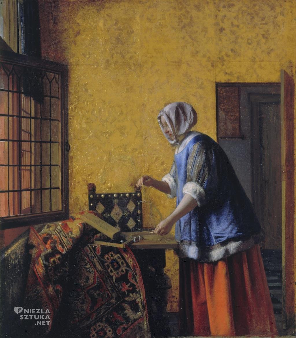 Pieter de Hooch Ważąca złoto