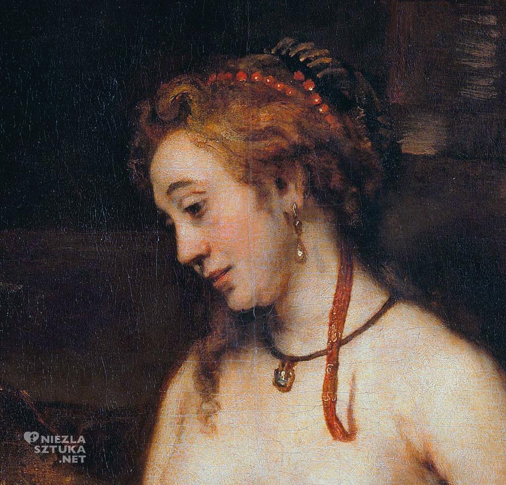 Rembrandt, Batszeba w kąpieli, Luwr, Niezła sztuka