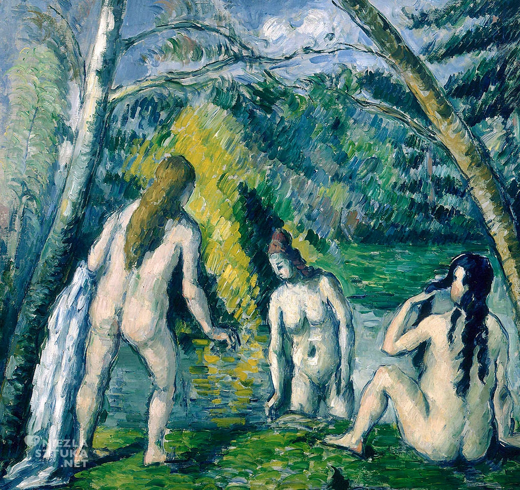 Paul Cézanne,Trzy kąpiące się, Niezła sztuka