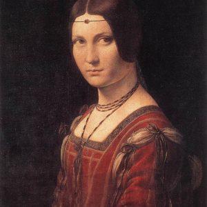 Leonardo da Vinci Portret kobiety La Belle Ferronnière