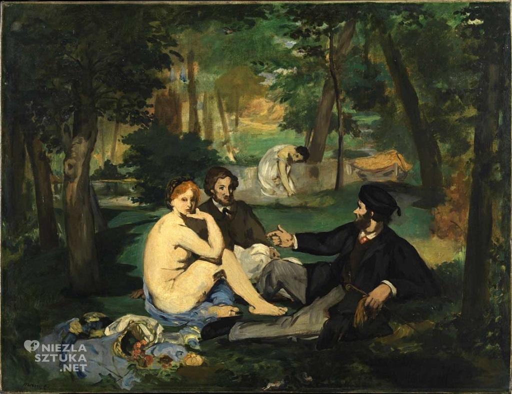 Édouard Manet śniadanie na trawie szkic londyn, Niezła sztuka
