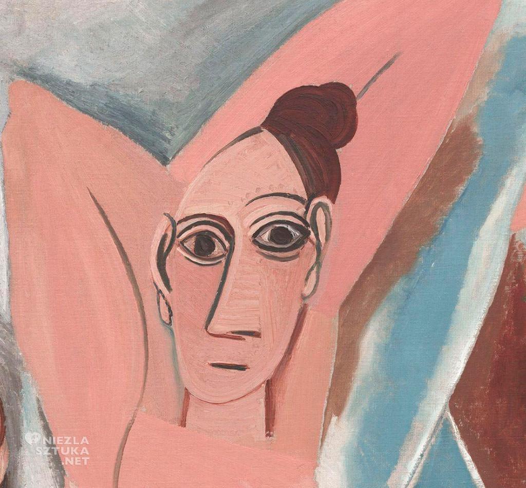 Pablo Picasso, Panny z Awinionu, detal, 1907, olej, płótno, Museum of Modern Art, Nowy Jork, Niezła sztuka