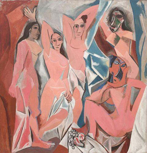 Pablo Picasso, Panny z Awinionu, 1907, olej, płótno, Museum of Modern Art, Nowy Jork, Niezła sztuka