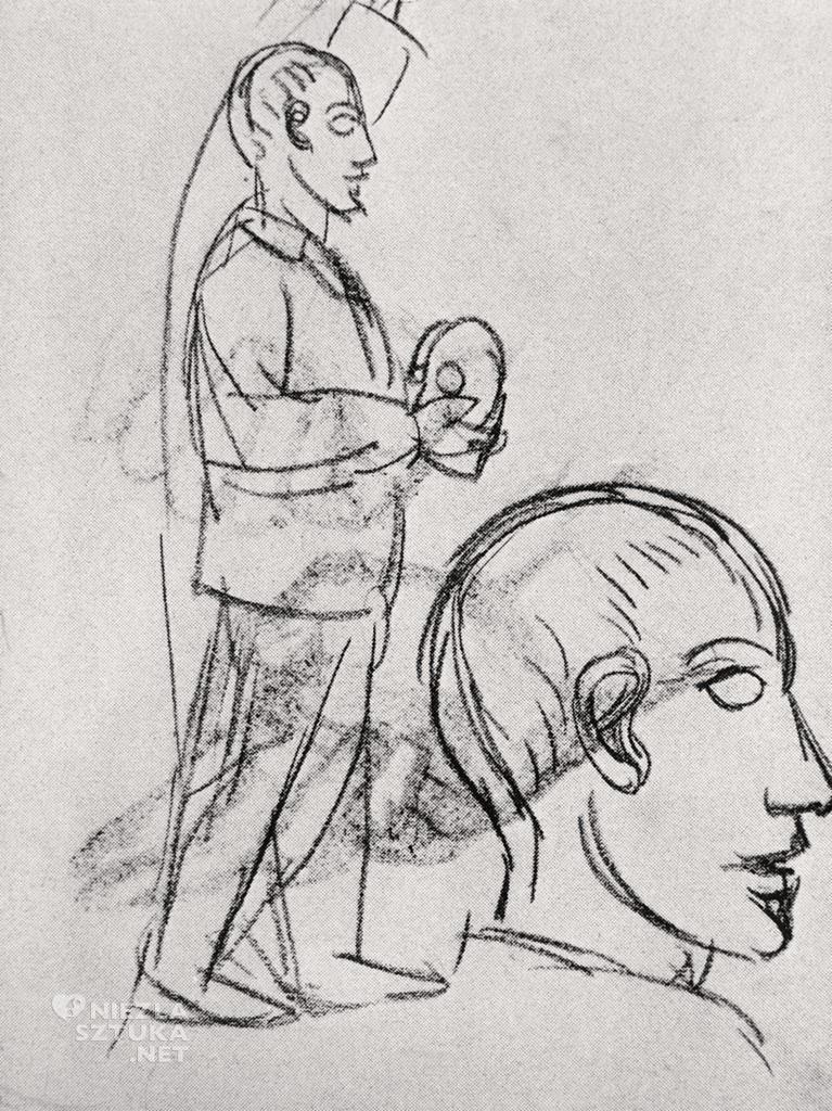 Pablo Picasso,  Szkic do obrazu Panny z Awinionu, 1907