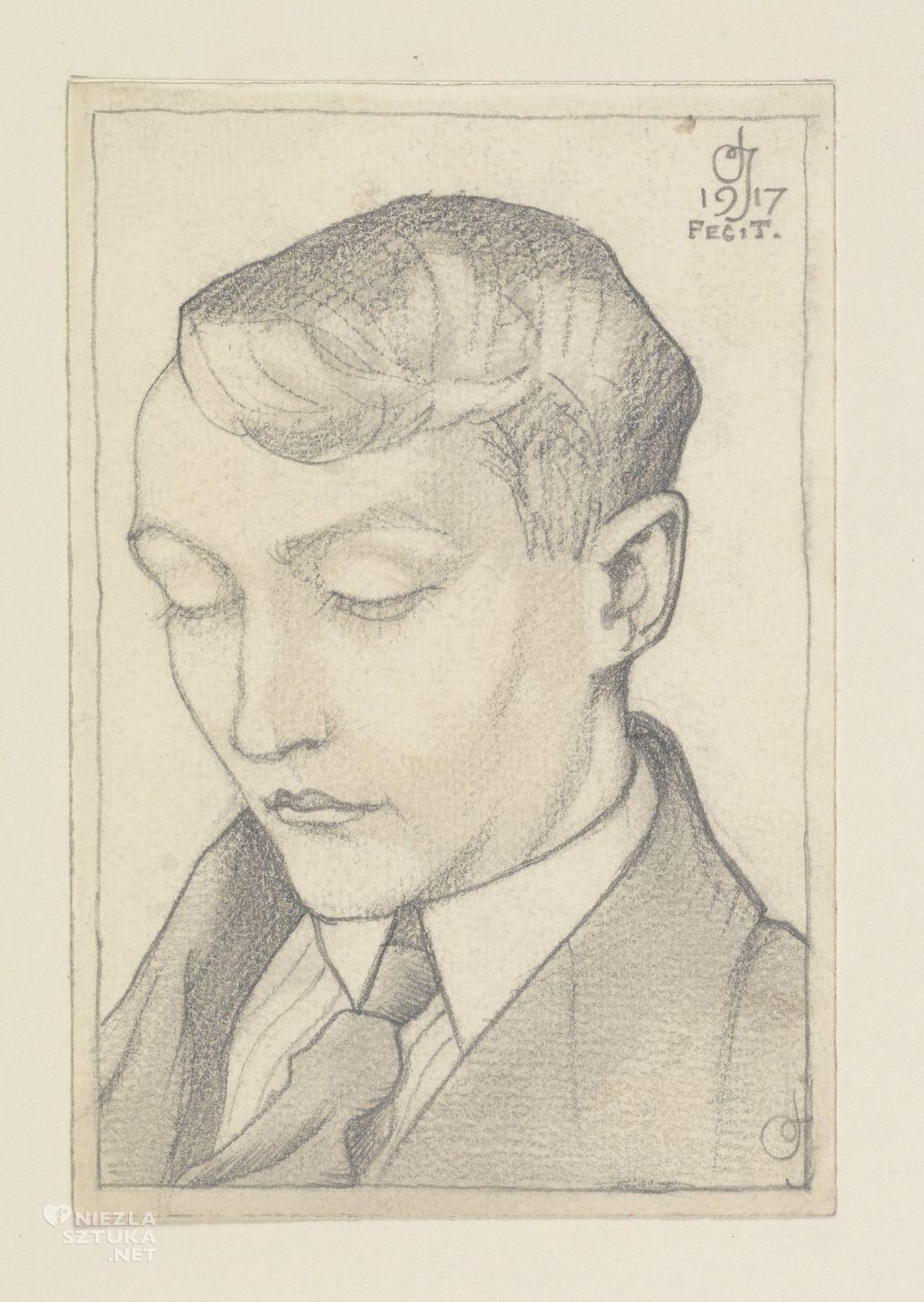 Tadeusz Cieślewski syn grafik Autoportret