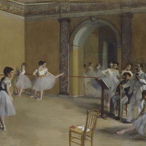 Edgar Degas Foyer Opery przy Rue Le Peletier
