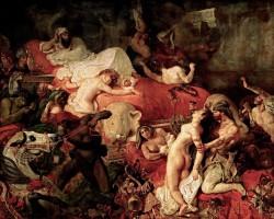 Eugène Delacroix Śmierć Sardanapala Luwr Niezła sztuka