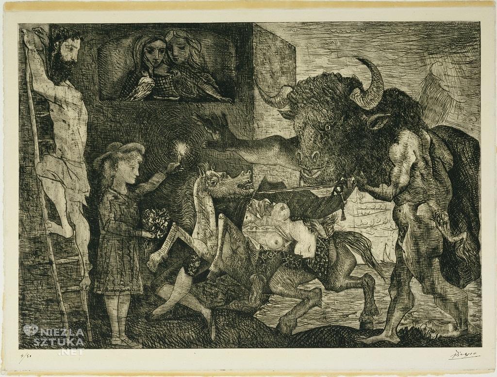 Pablo Picasso, Minotauromachia, kubizm, Niezła Sztuka
