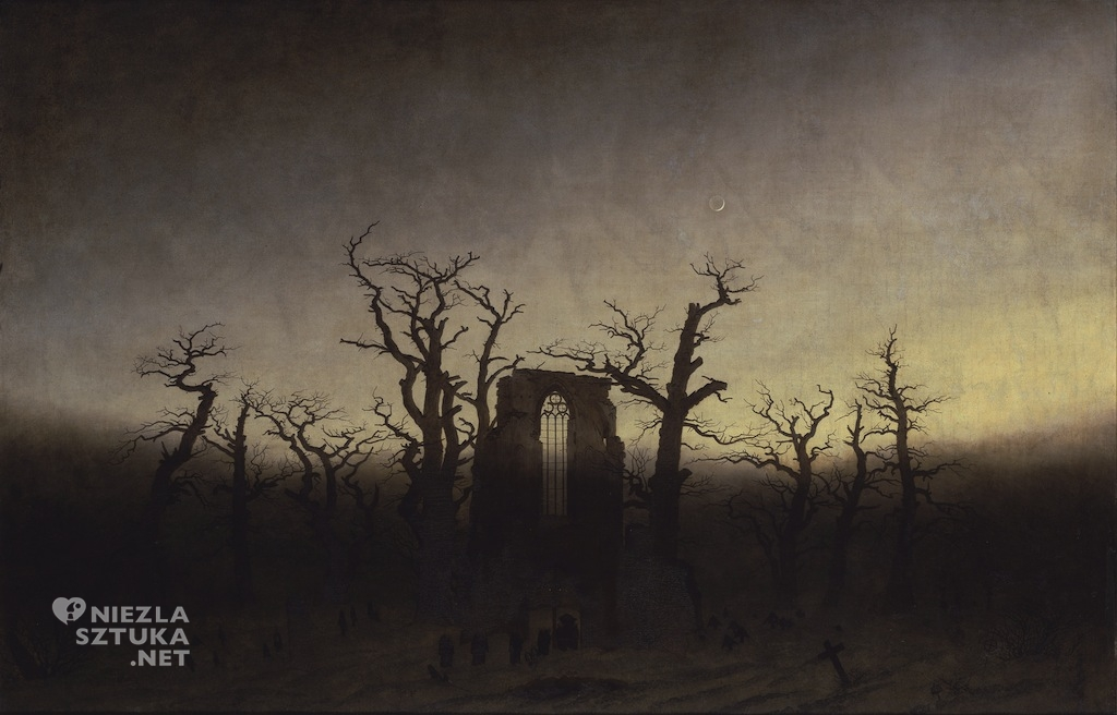 Caspar David Friedrich Opactwo w dębowym lesie