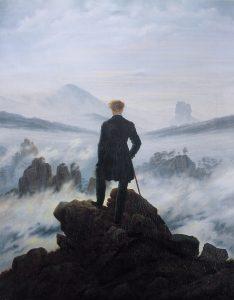 Caspar David Friedrich, Wędrowiec nad morzem mgły, slajd