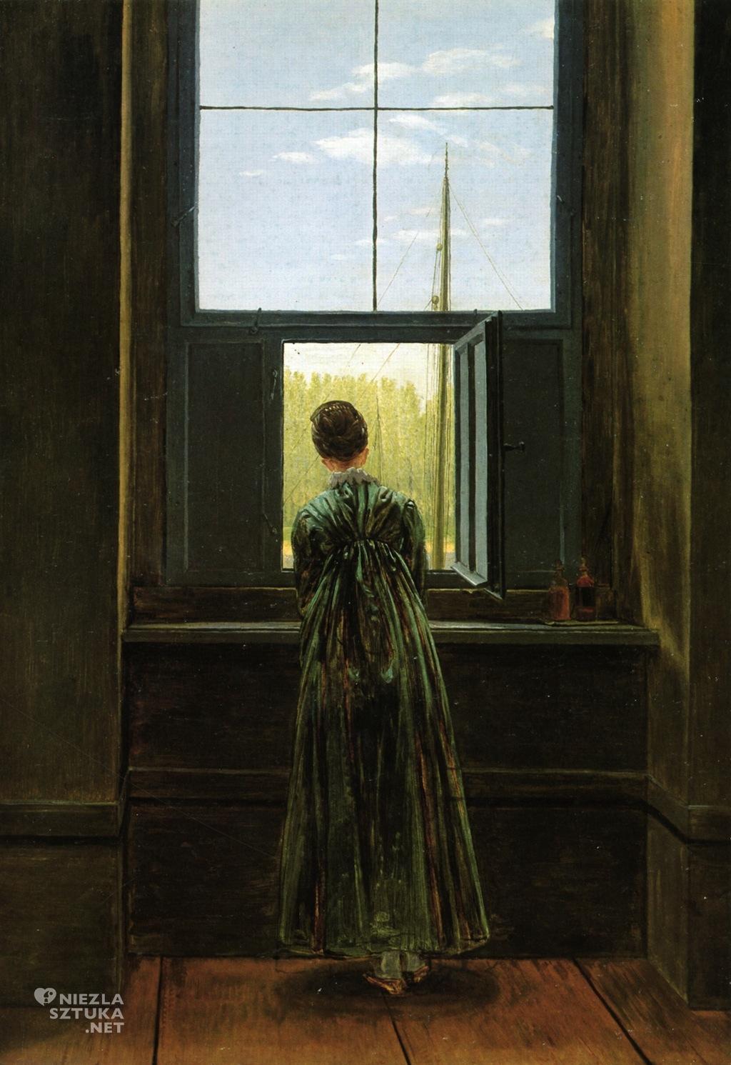 Caspar David Friedrich Kobieta w oknie