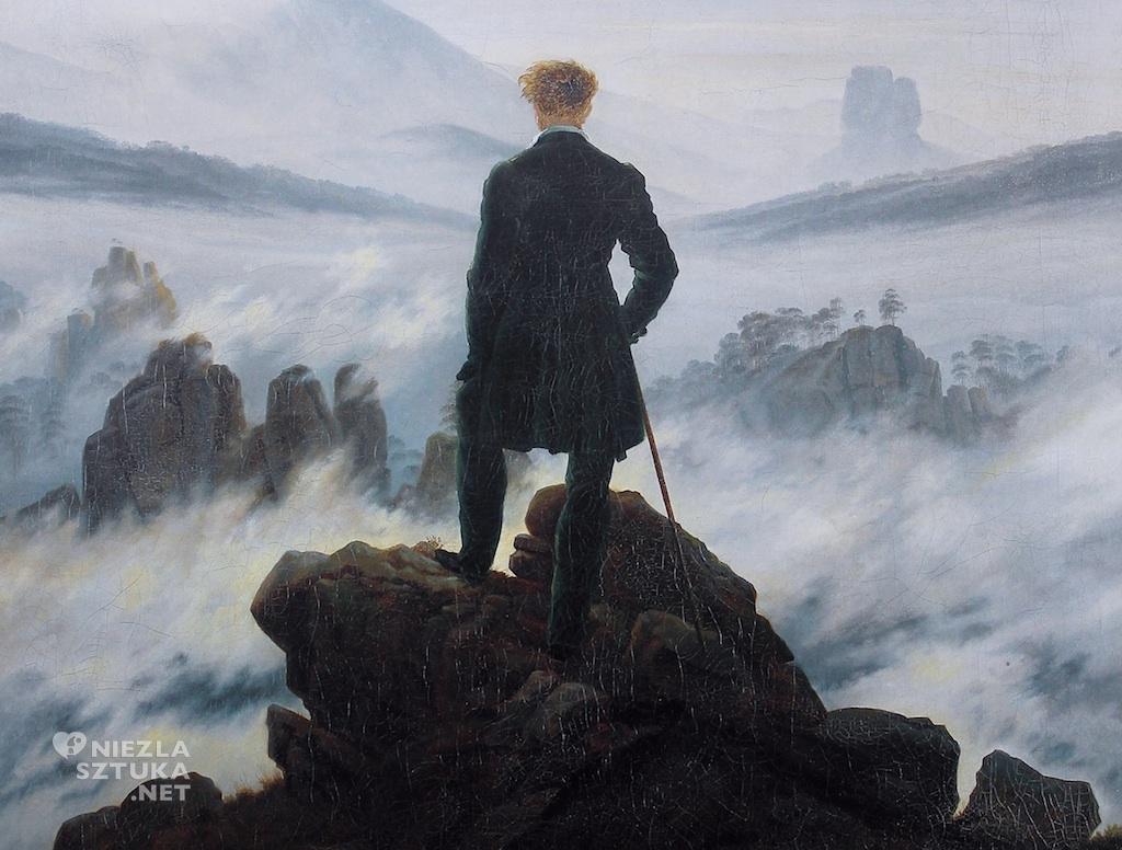 Caspar David Friedrich Wędrowiec nad morzem mgły