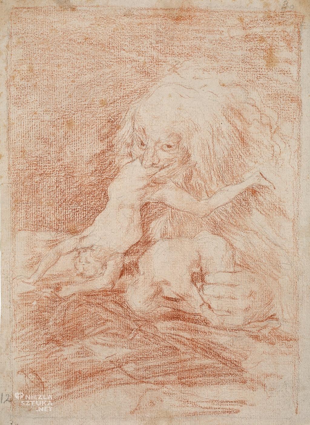 Francisco Goya, Saturn pożerający własne dzieci, 1797-1798, Museo del Prado, Madryt, Niezła sztuka
