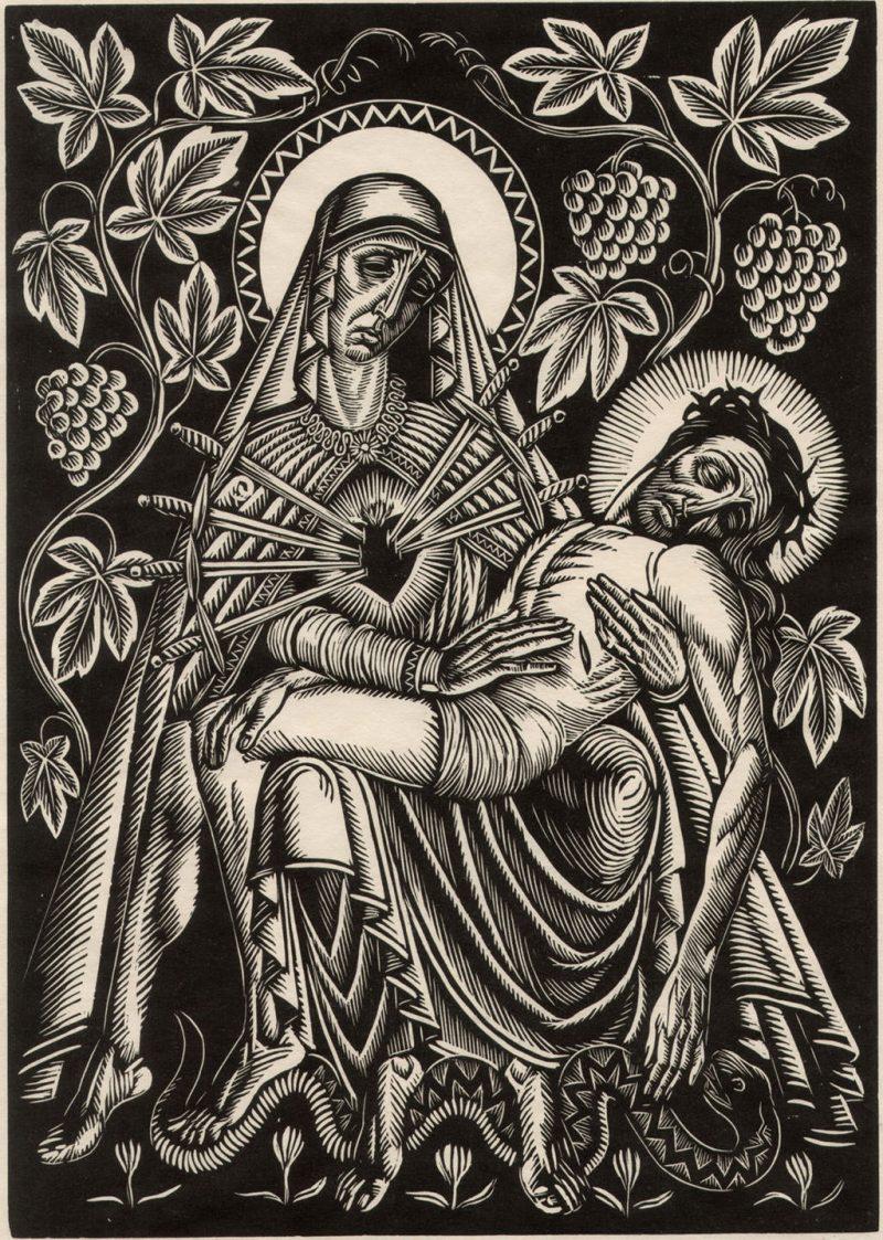 Władysław Skoczylas Pieta (w winogrodzie)