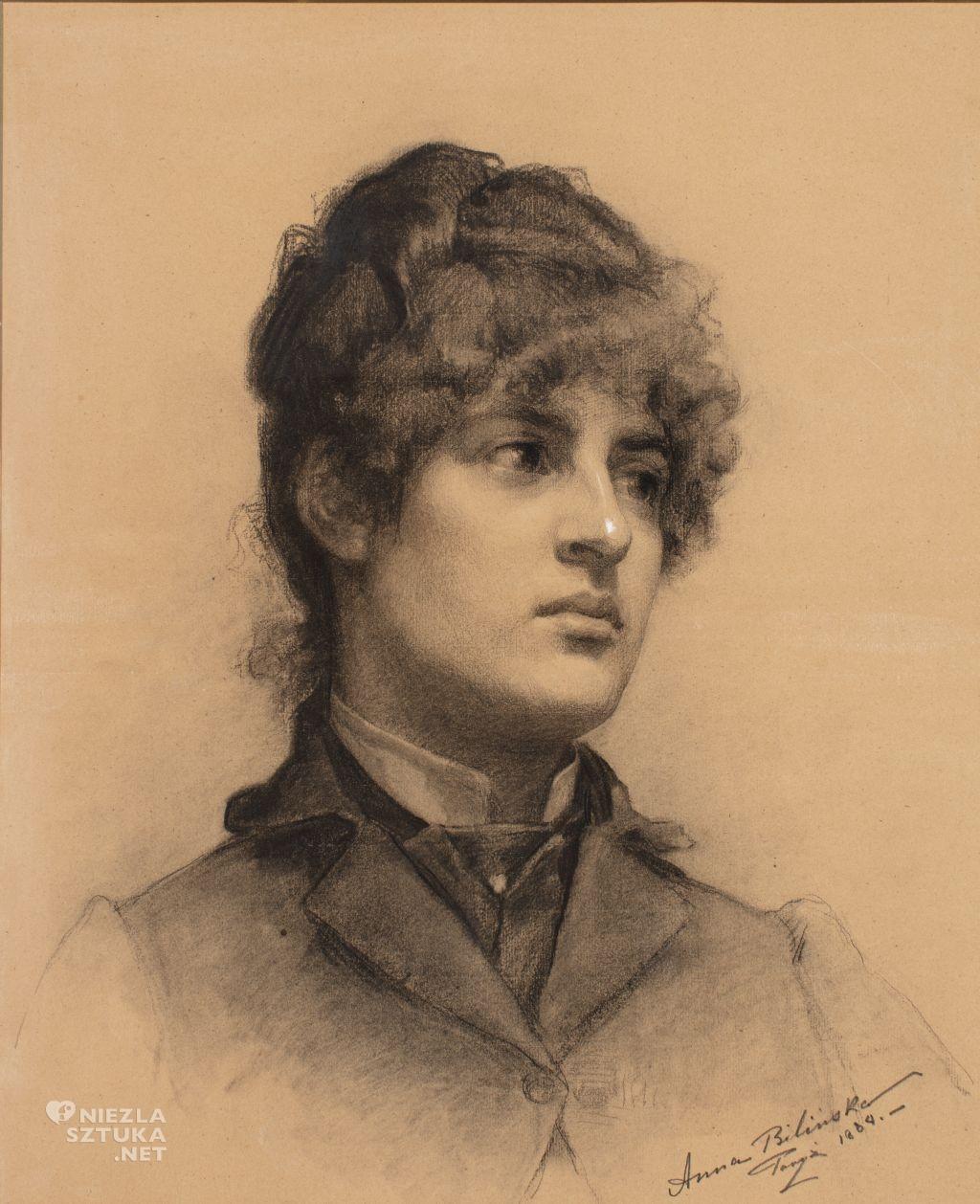 Anna Bilińska, Autoportret, malarka polska, sztuka polska, Niezła sztuka