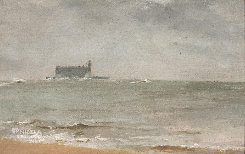 Anna Bilińska, Fort Boyard; Widok morski ze statkiem