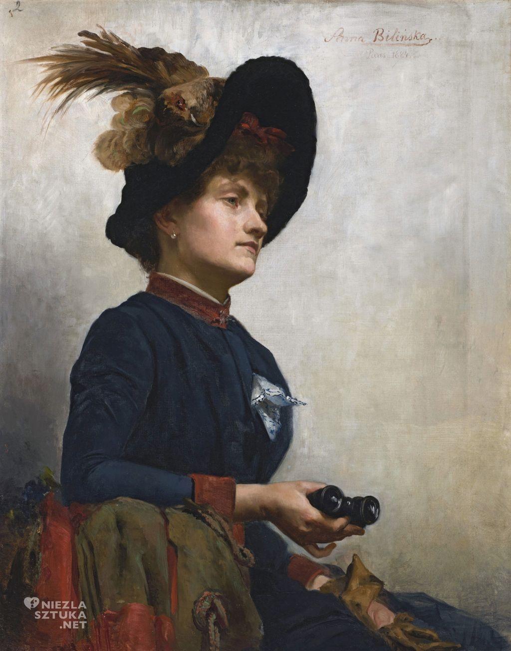 Anna Bilińska, Portret damy z lornetką, Muzeum Narodowe w Warszawie, Niezła sztuka