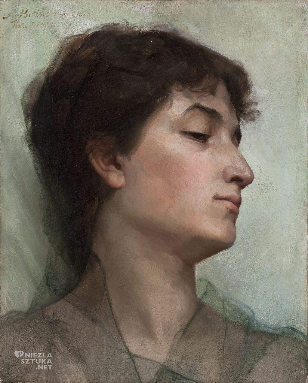 Anna Bilińska, Studium portretowe młodej kobiety