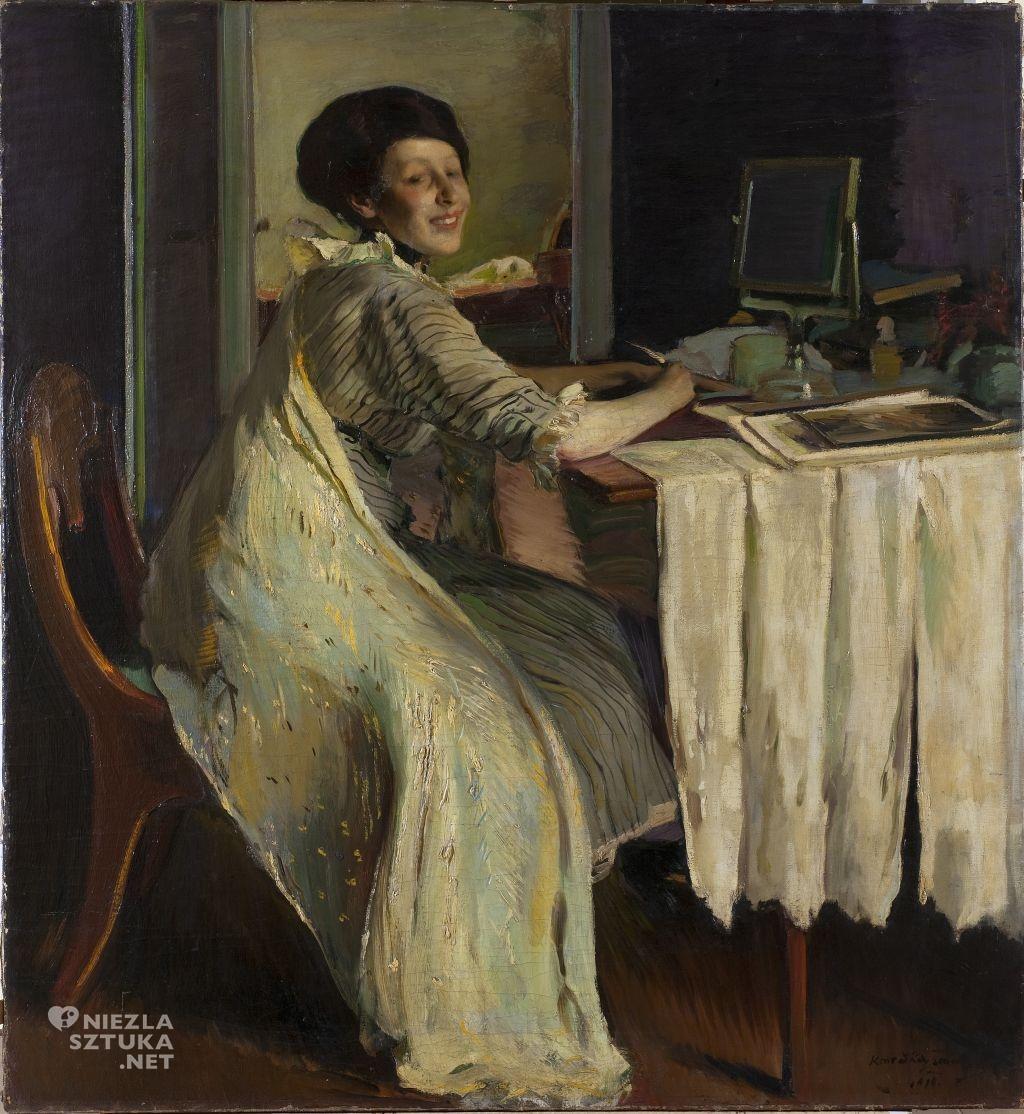 Konrad Krzyżanowski, Portret Emilii Wysockiej , 1913, Muzeum Pałac Herbsta w Łodzi (Oddział Muzeum Sztuki)