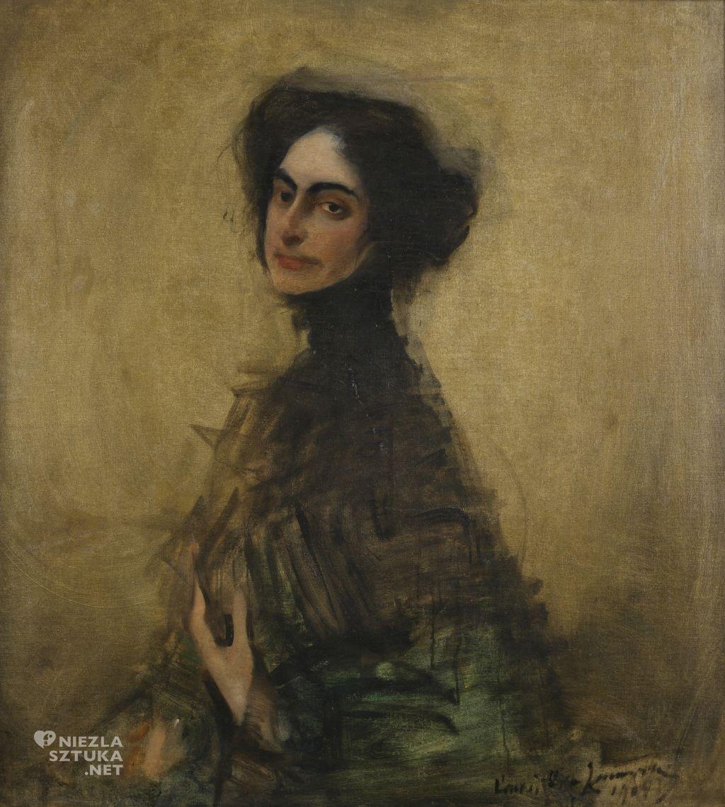 Konrad Krzyżanowski, Portret Pani Dobkin , 1901, Muzeum Górnośląskie w Bytomiu