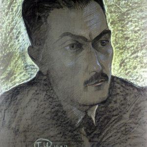 Stanisław Ignacy Witkiewicz, Portret Tadeusza Boya-Żeleńskiego, 1928, Muzeum Pomorza Środkowego w Słupsku