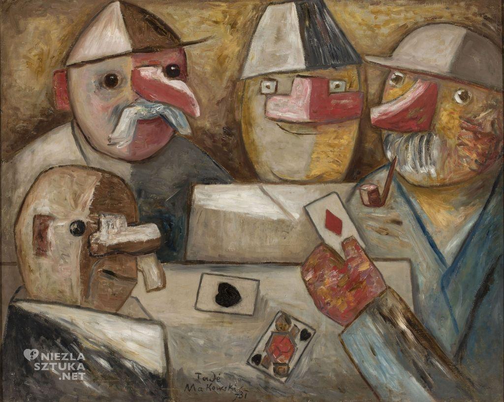 Tadeusz Makowski Gra w karty