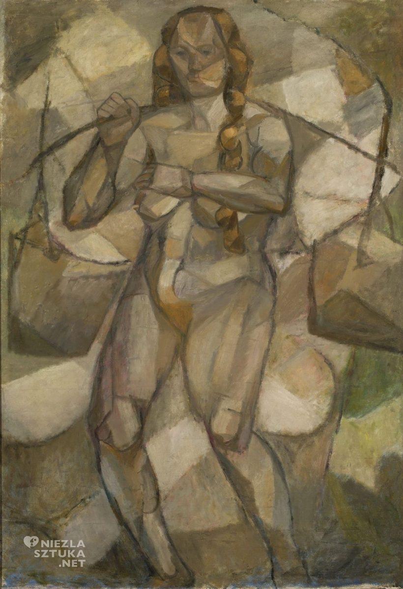 Tadeusz Makowski Kobieta z wiadrami Akt kubistyczny