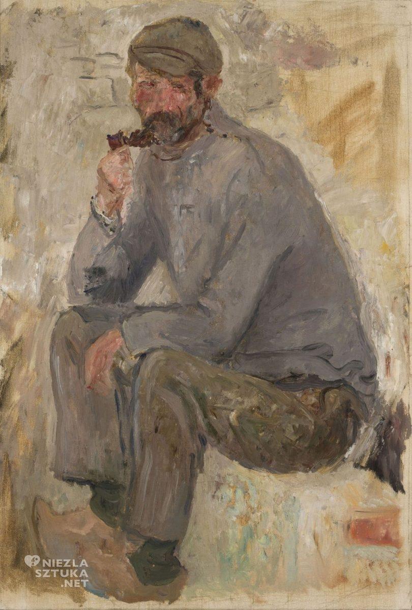 Tadeusz Makowski Rybak z fajką