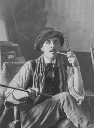 Tadeusz Makowski w swojej paryskiej pracowni