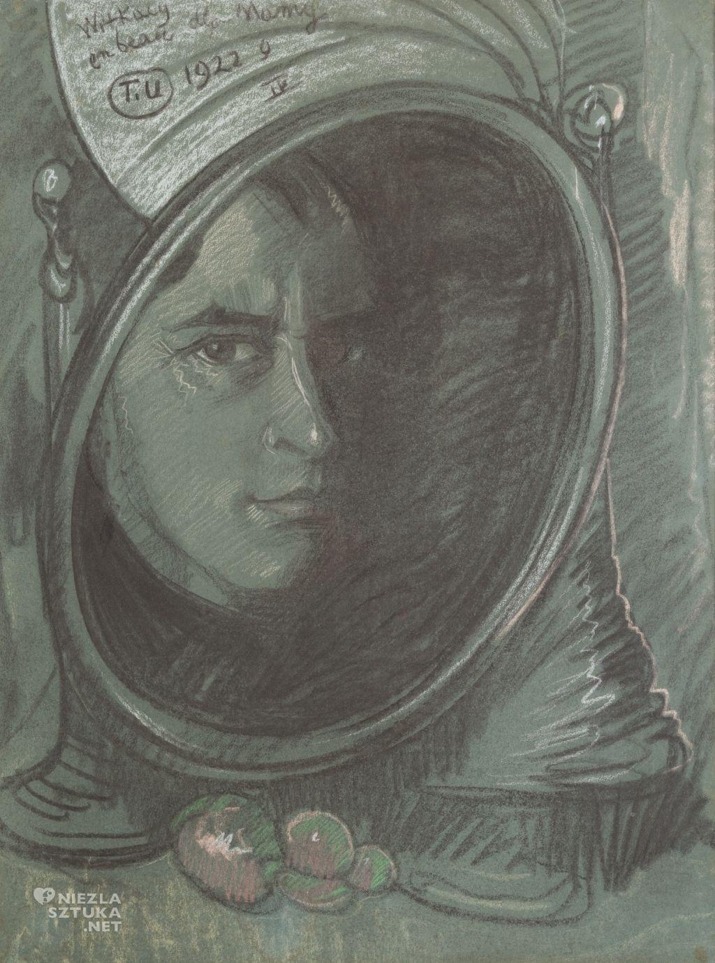 Stanisław Ignacy Witkiewicz, Autoportret w lustrze, 1922, Muzeum Narodowe w Krakowie