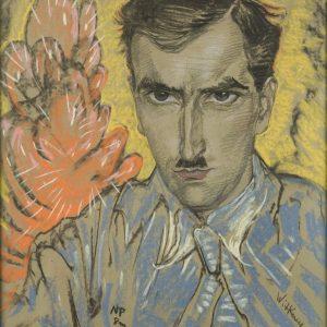 Stanisław Ignacy Witkiewicz, Marzenie o czerwonym kaktusie. Portret Józefa Głogowskiego, 1931, Muzeum Narodowe w Krakowie