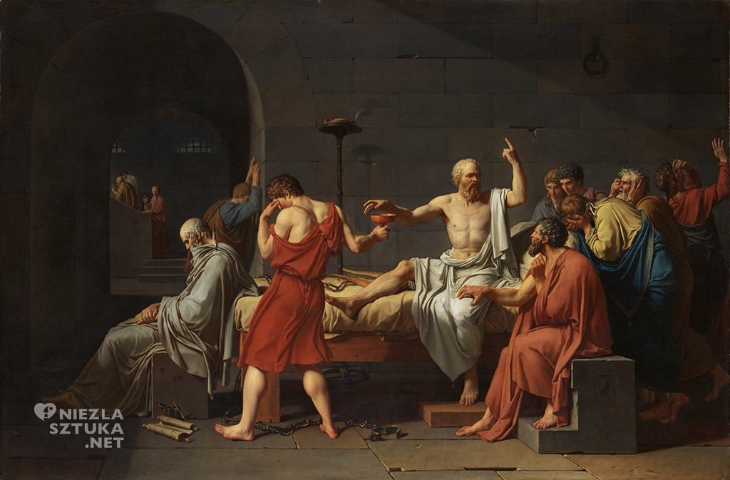 Jacques-Louis David, Śmierć Sokratesa , 1787