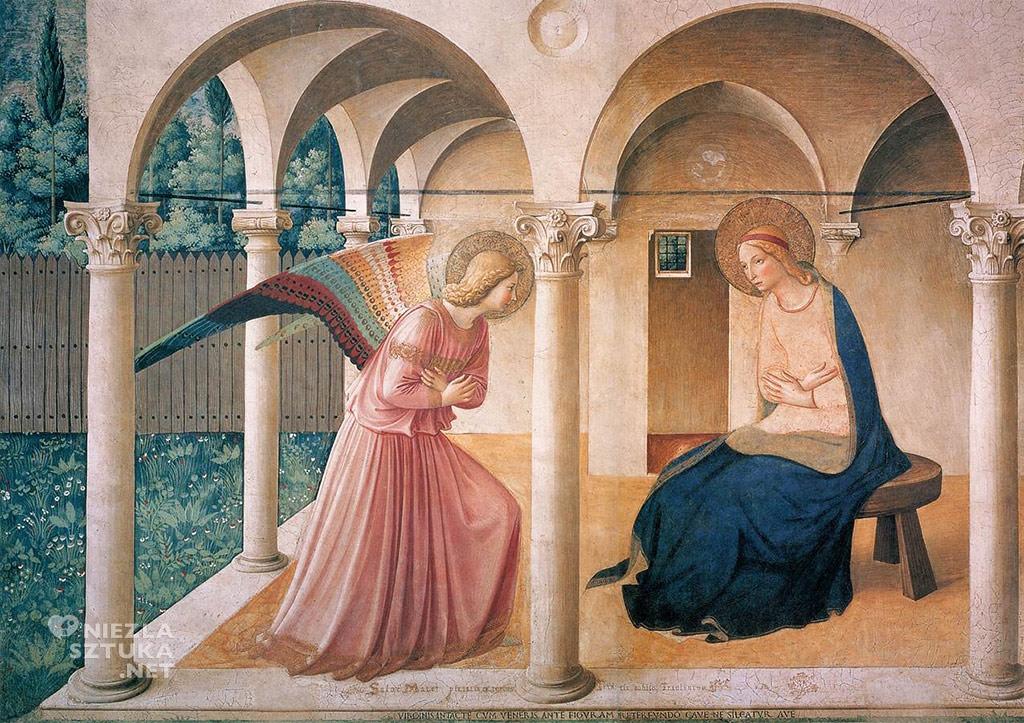 Fra Angelico, Zwiastowanie, Florencja, San Marco, fresk, Niezła sztuka