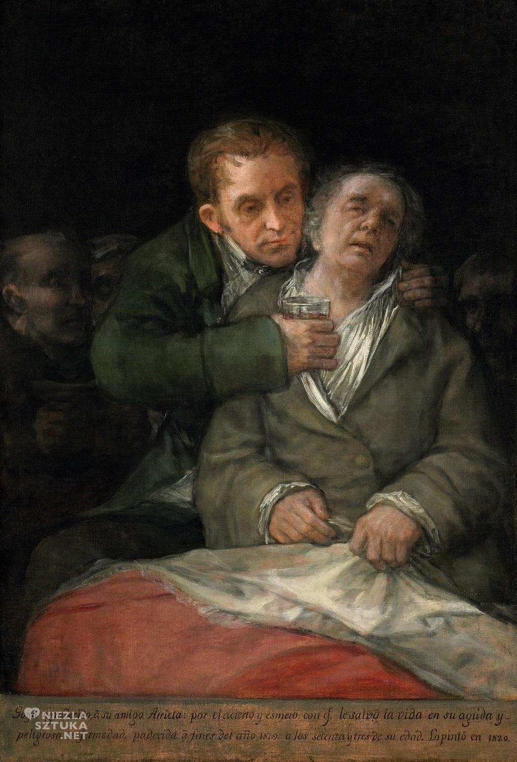 Francisco Goya Autoportret Dr Arrieta Hiszpania Niezła sztuka
