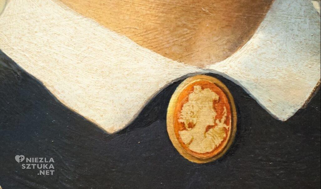 Grant Wood, American Gothic, detal, sztuka amerykańska, Niezła Sztuka