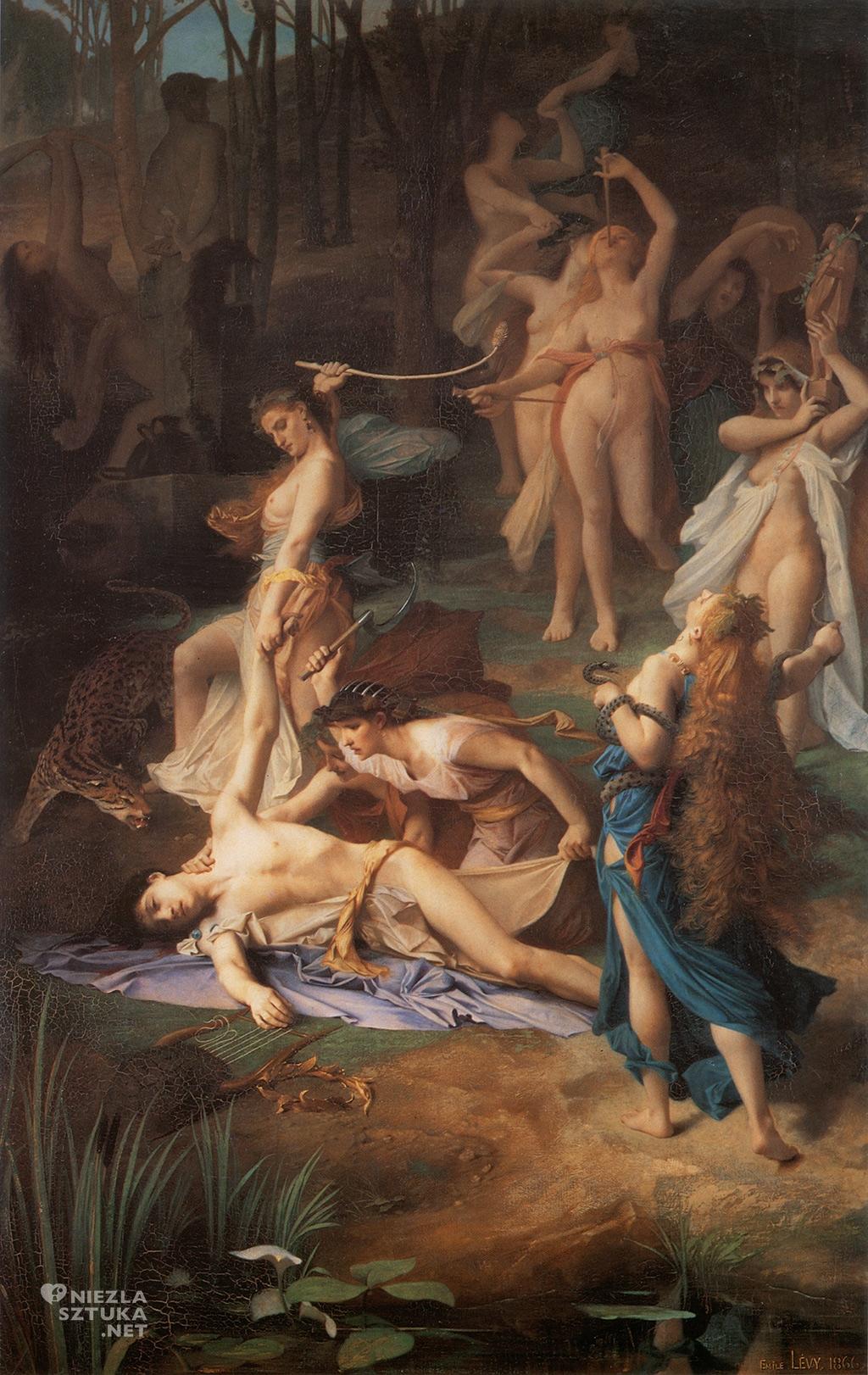 Émile Lévy, Śmierć Orfeusza, Orfeusz, Musée d'Orsay, Paryż, Niezła sztuka