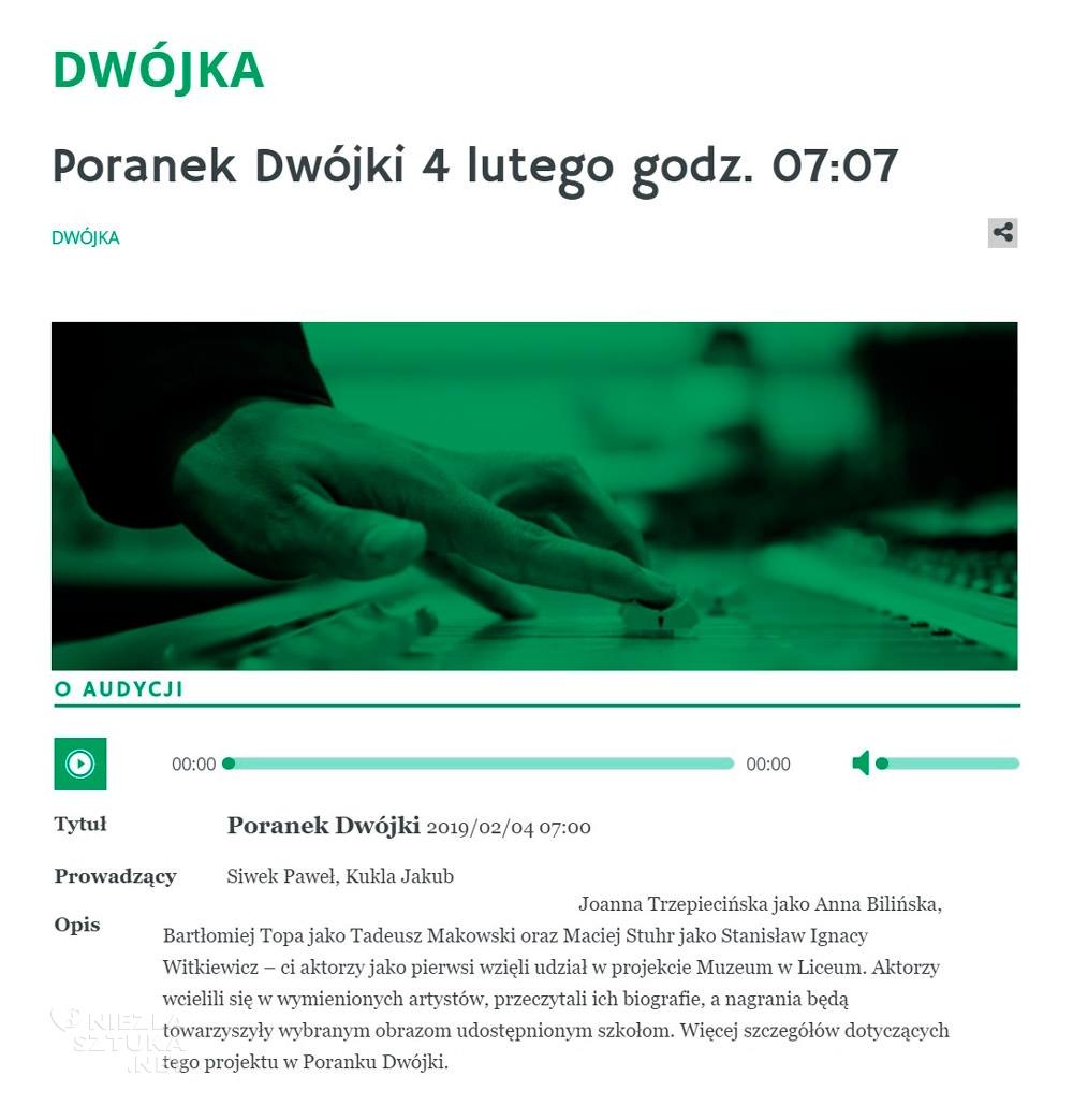 Dwójka polskie radio Muzeum w Liceum