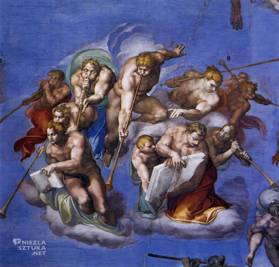 Michał Anioł, Sąd Ostateczny (fragment), 1534-1541, fresk w Kaplicy Sykstyńskiej w Rzymie