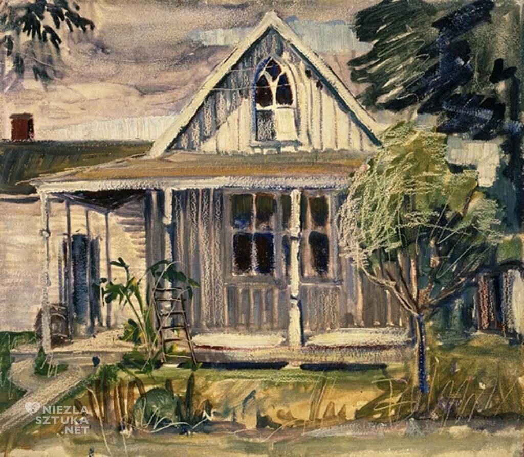 Grant Wood, szkic do American Gothic, sztuka amerykańska, Niezła Sztuka