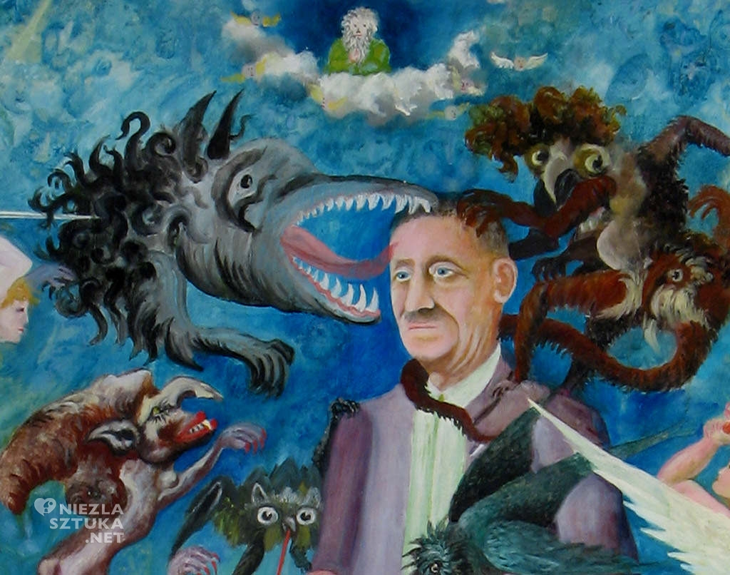 Teofil Ociepka, Autoportret, sztuka naiwna, grupa janowska, Państwowe Muzeum Etnograficzne w Warszawie, Niezła sztuka