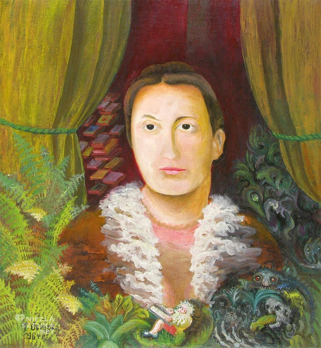 Teofil Ociepka, Portret żony, sztuka naiwna, grupa janowska, sztuka polska, Niezła Sztuk