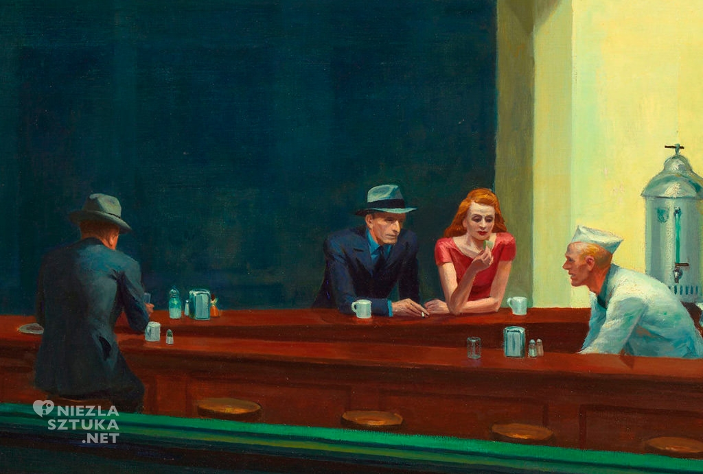 Edward Hopper Nocne marki (Nighthawks) | 1942, 84,1 × 152,4 cm, olej, płótno, Art Institute of Chicago