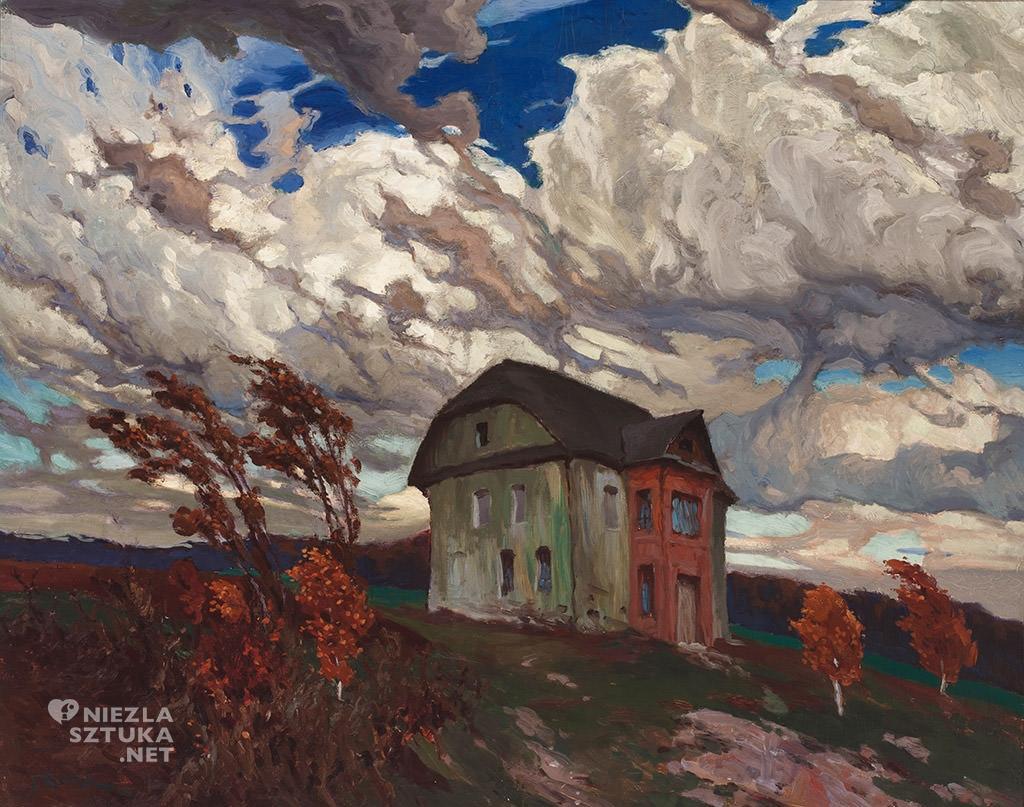 Ferdynand Ruszczyc, Pustka, Stare gniazdo | 1901, Litewskie Muzeum Sztuki w Wilnie, sztuka polska, malarstwo polskie, Niezła sztuka