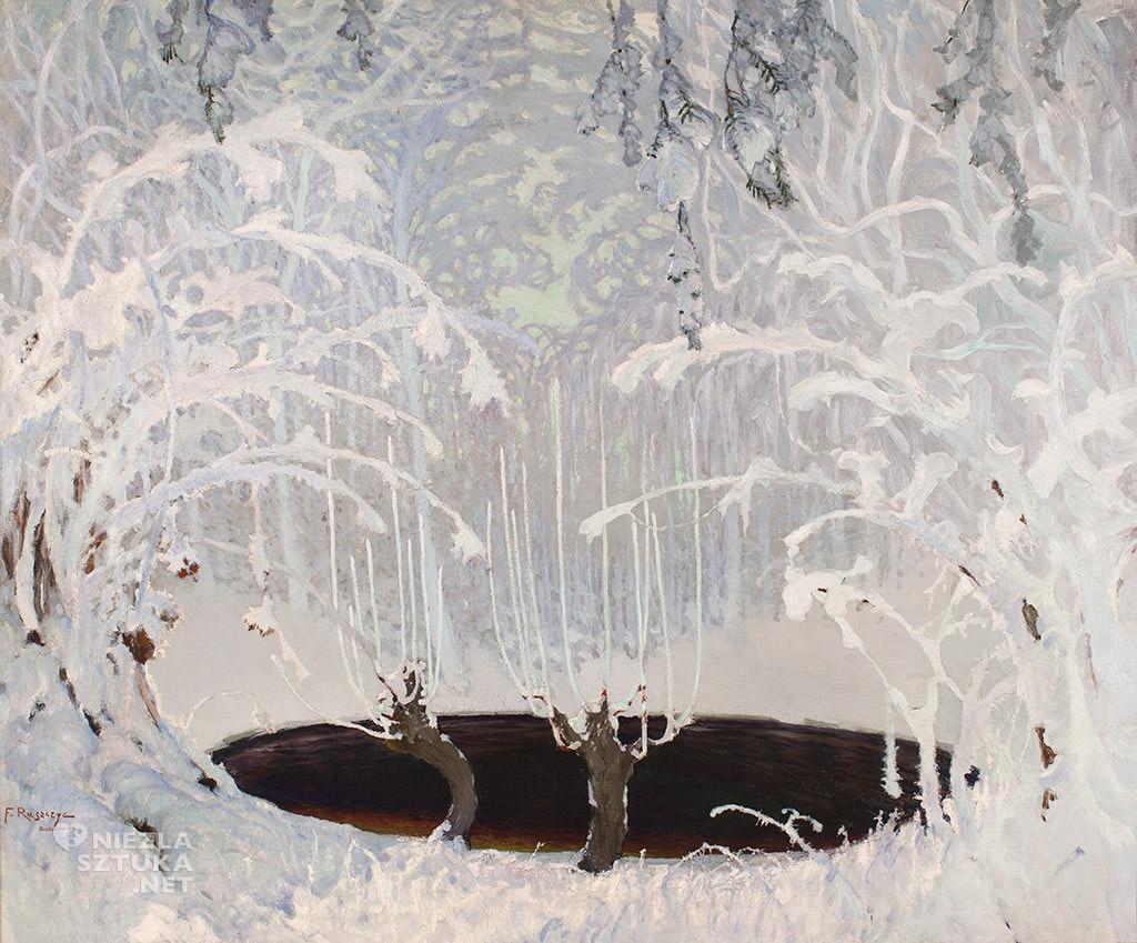 Ferdynand Ruszczyc, Bajka zimowa, 1904, Muzeum Narodowe w Krakowie, sztuka polska, malarstwo polskie, Niezła sztuka