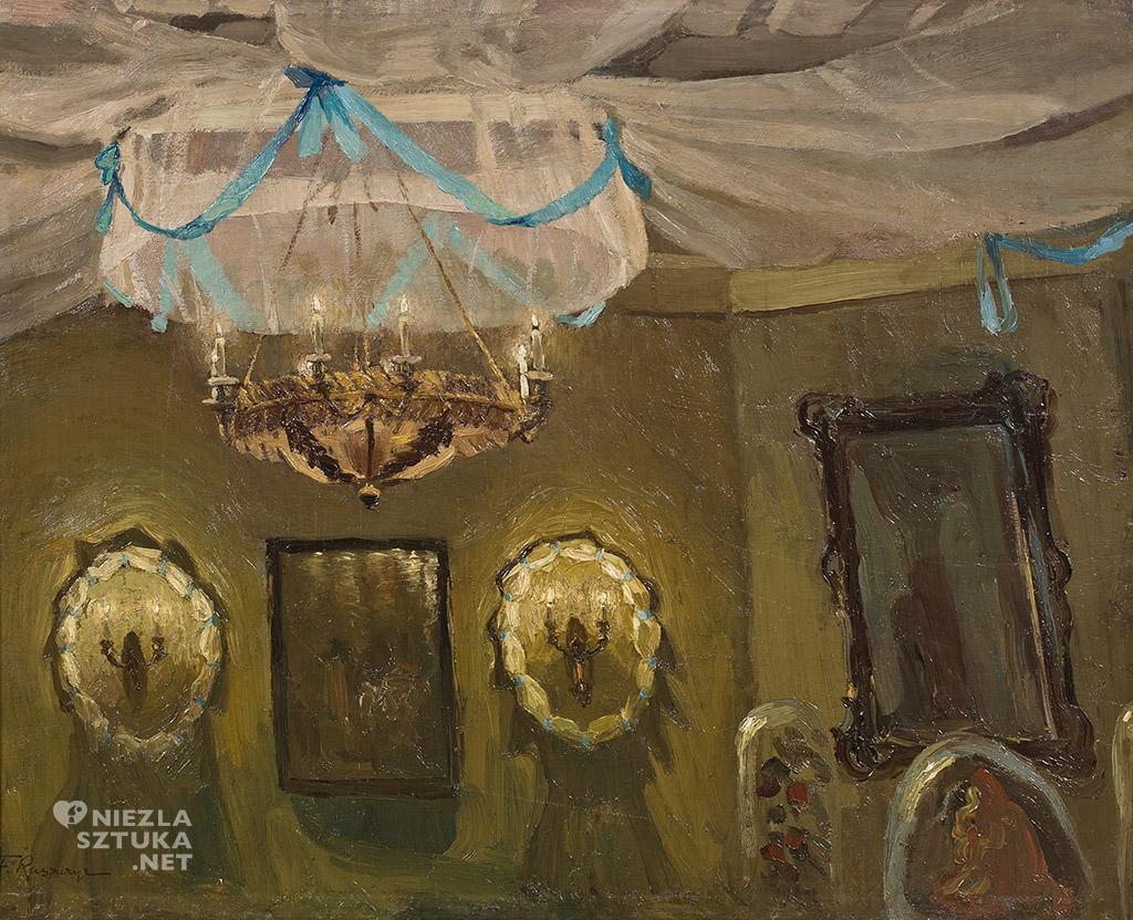 Ferdynand Ruszczyc, Biały mazur, 1905, Polswiss, sztuka polska, malarstwo polskie, Niezła sztuka