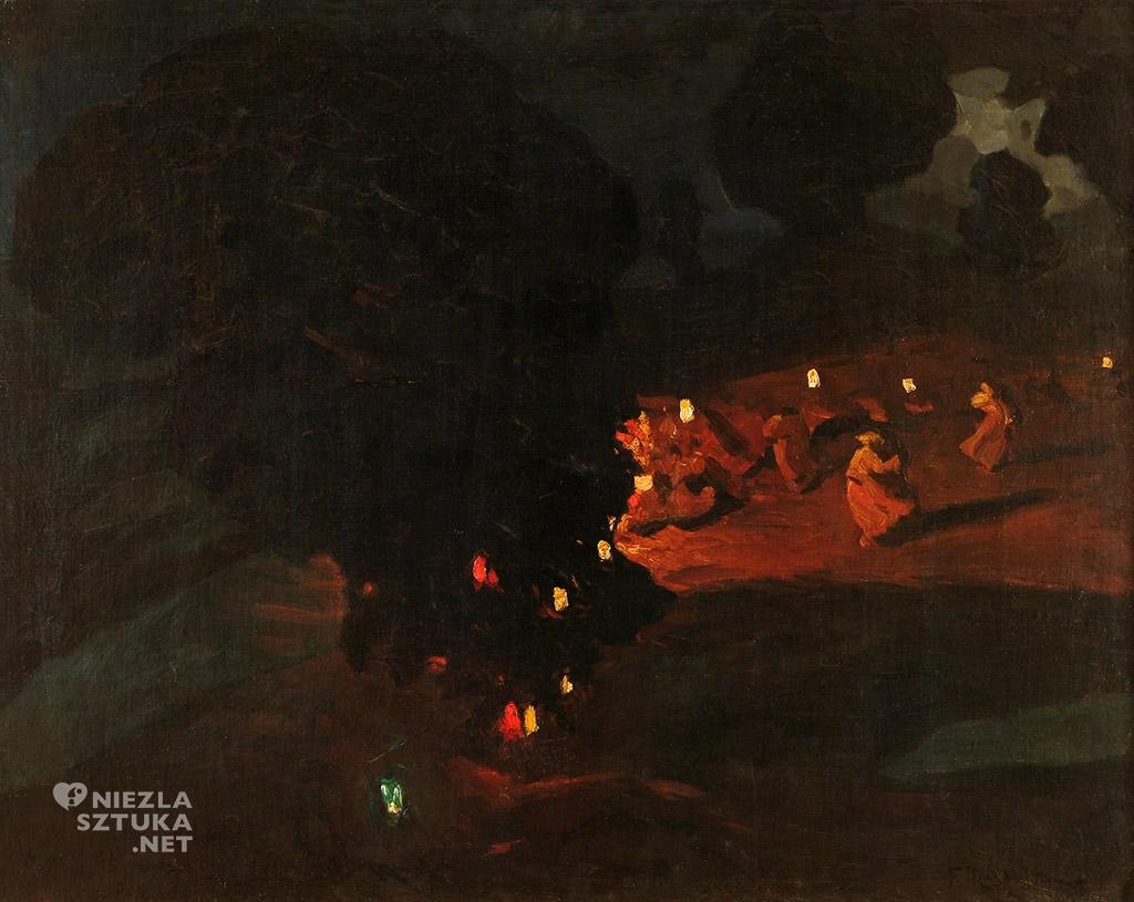 Ferdynand Ruszczyc, Sobótki, 1898, Muzeum Częstochowskie, polska sztuka, malarstwo polskie, Niezła sztuka